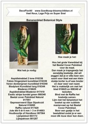 1 Werkbeschrijving sparen max 1 per klant Bananenblad - Bananenblad klik voor eigen keuze
