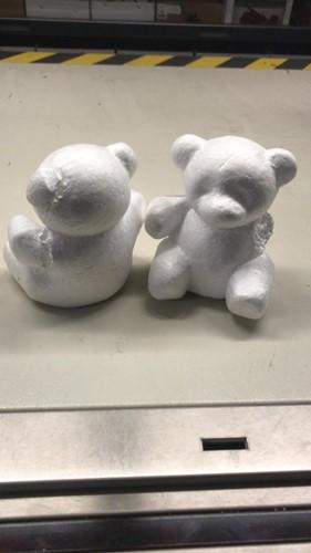 Styropor beer beren doos  met schade