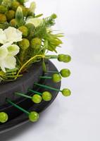 Oasis® Eychenne® ALL BLACK™ Krans Oasis Black Zwart steekschuim Oase-3