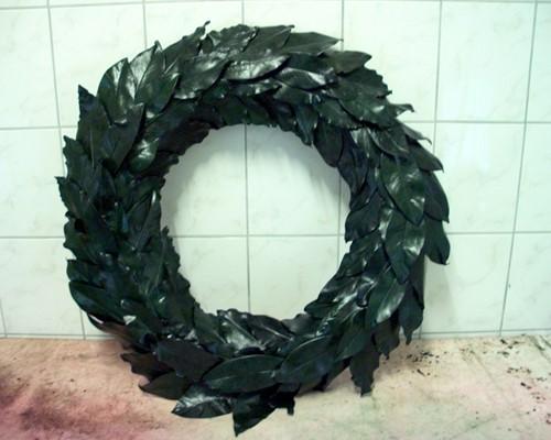 Bladkrans 70 cm. Groen  Bladkrans Herdenkingskran