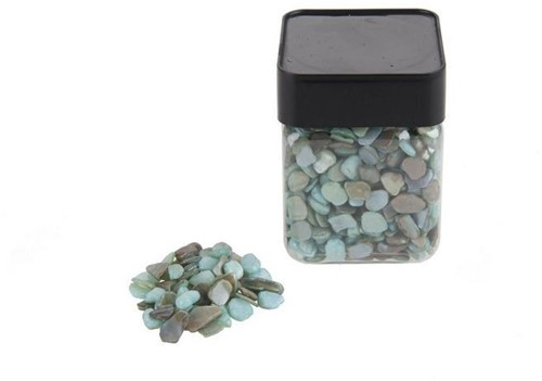 Blauwe mix steentjes Ocean blue gravel 8-12 mm blauwe steentjes