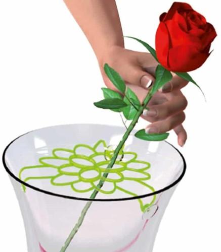 Bloemenschikker Handig hulpje roze - roze bloemenschikker