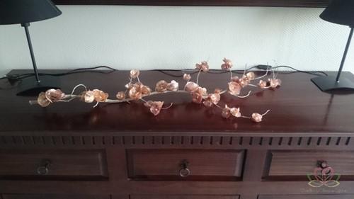 Bloesemschelpen paars bruin, +/- 100 gram