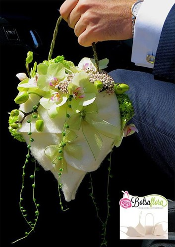 Bolsa Flora IV bruidsboekethouder bloementasje staffelkorting