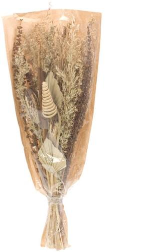 Droogbloemenboeket Bouquet Mahogany alpha grass mix natural Droogbloemenpakket in mooie hoes