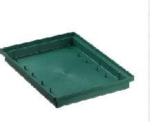 Brick vierkant brick tray 2/2 23*22*4, 5cm. Groen  voor 2 grote bl
