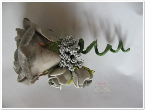 Corsage Roos Taupe CEM17 Corsage Roos CEM17