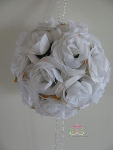 bloemenbal Pomander RoseBall Wit nr 21 bloemenbal Pomander