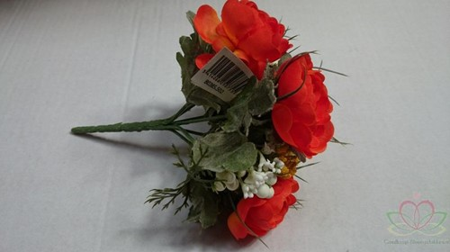 Bruidsmeisjesboeket Ranonkel Zijde frost Oranje Bruidsmeisjesboeket