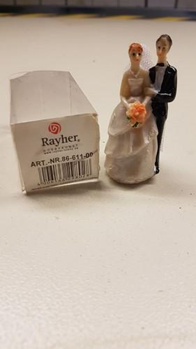 Bruidspaar 10 cm. voor bijvoorbeeld bruidstaart Bruidspaar 10