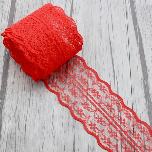 Budget Lint Kant Rood +/-45mm 5 yard Kant 45 mm