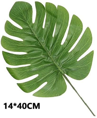 Monstera blad Monsterablad /stuk 14*40cm. VT Wonen Botanical
