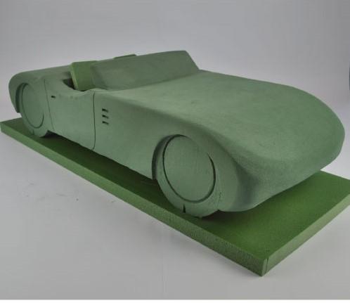 Auto 3D CABRIO steekschuimvorm 76cm. x 56cm. x 20cm. Auto Steekschuim