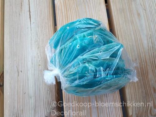 Capiz shell Camar Azure 500 gram GEBOORD geboord, azure, 500 gram