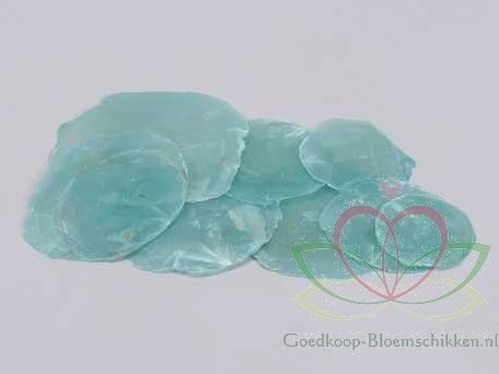 Capiz shell Camar Blauw 250gr blauw, +/- 250 gram