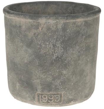 Cement deco pot Ceramic flower pot 21x21x20cm. Prachtige pot