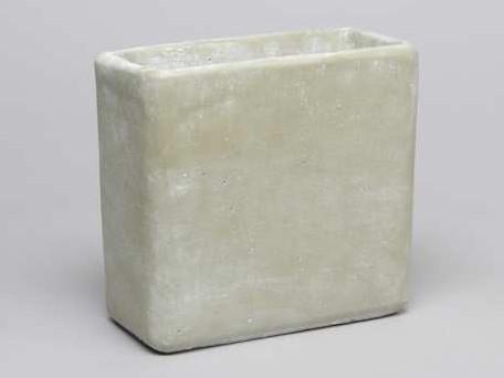 Cement flowerpot ''high'' Groen cement 19x9. 5x18cm. Medium' mooie cementpot