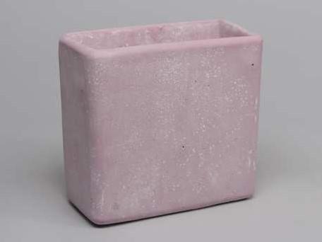 Cement flowerpot ''high'' roze cement 22x11x20. 5cm. Large' mooie cementpot