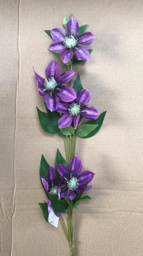 CLEMATIS SPRAY PURPLE 78 cm. bloomon boeket
