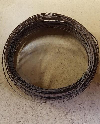 Draadkrans ring Wreath rings B-keus 20 cm iets roestig