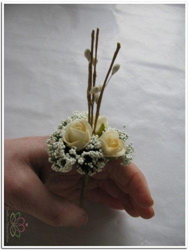 Corsage Mini Roos New Style -Pick Peach Corsage Mini Roos