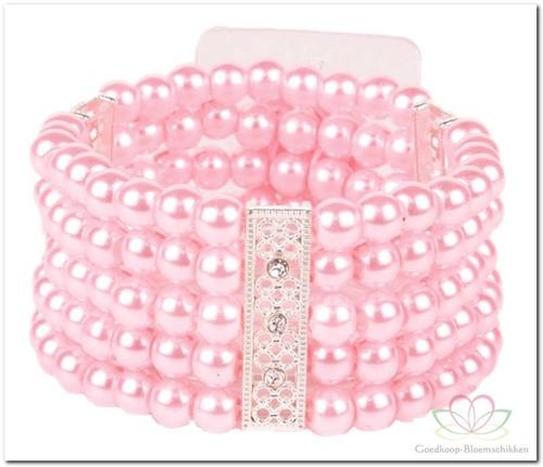 Corsage Polscorsage Simple Elegance Roze Polscorsage