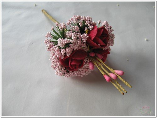 Corsage Mini Roos New Style -Pick Pink-Roze Corsage Mini Roos