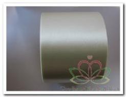 Cream Lint 70 mm met zilver opdruk +/- 80cm. - Eigen tekst opgeven in het veld opmerkingen aan het eind van de bestelling Cream Lint 70 mm met zilv