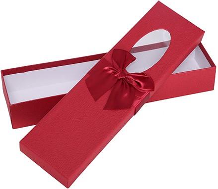 Bloemendoos 36cm ROSE BOX met venster en strik ROOD Cadeaudoos voor bv rozenboeket