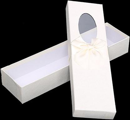 Bloemendoos 36cm ROSE BOX met venster en strik CREME Cadeaudoos voor bv rozenboeket