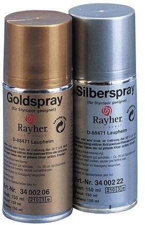 Deco-spray, geschikt voor styropor zilver150 Deco-spray, geschikt voor