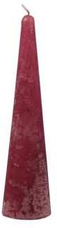 Actie Kaars kegelvorm 41x150mm Frosted Dark red Donkerrode Kaars kerstboomvorm 14h