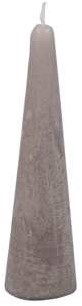 Actie Kaars kegelvorm 41x150mm Frosted Cool Grey Kaars kerstboomvorm 14h