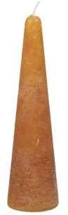 Actie Kaars kegelvorm 41x150mm Frosted Copper Koperkleurige Kaars kerstboomvorm 14h