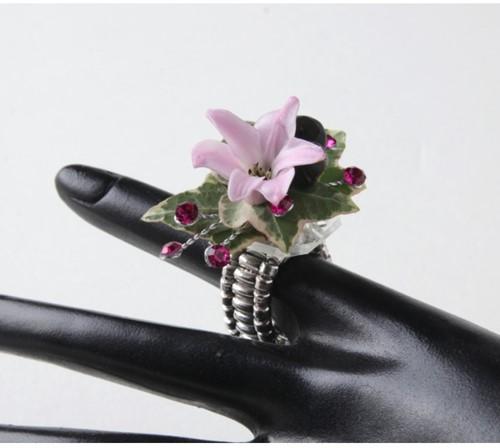 Design Ring - Silver 2 stuks Floral ring