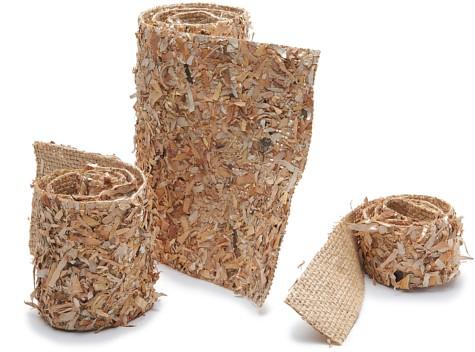 Berkenstukjes Birch chips mat 75cmx10cm hout band leuk om natuurlijke taart