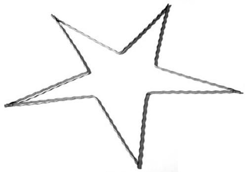 Draadframe Ster +/- 20 cm. Draadframe Ster