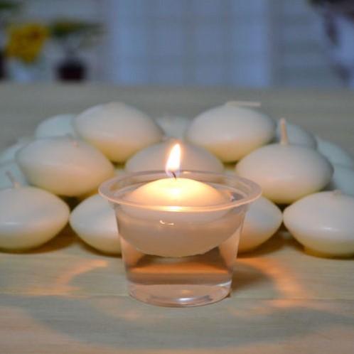 Drijfkaarsen FlO. a. ting candle 10 stuks. diameter 3, 5cm. drijfkaars