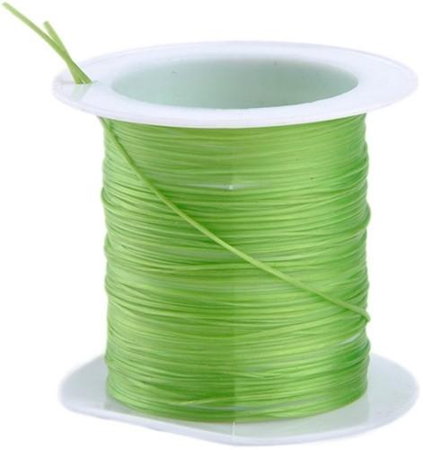 Elastisch Gekleurd Nylon voor o. a. sieraden  rol 10m