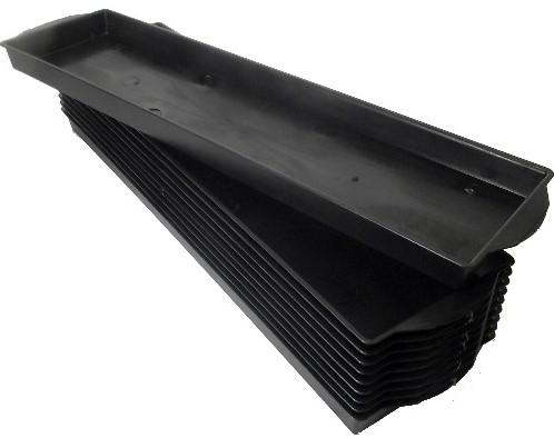 Brick tray 2/1 Single brick ZWART / st voor 2 grote blokken