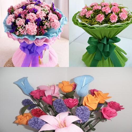 Floristencrepe / Bloemistencrepe 50 x250cm.  diverse kleuren