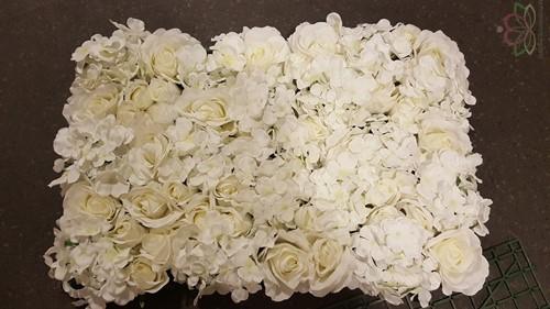 Flowerwall Flower Wall 40*60cm. Wit KANT EN KLAAR! Flower wall Flowerwall