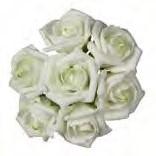 foam roos Emilia 6 cm. cremeGroen /Doos42 foam roos Emilia