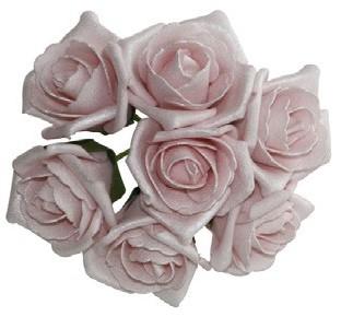 foam roos Emilia antique soft pink doos 42 foam roos Emilia
