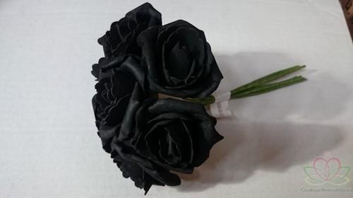 foam roos Emilia Zwart DOOS 42 new Zwarte roos