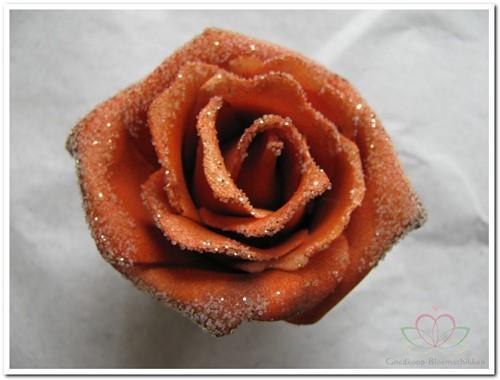 foam Rose Emilia 6cm. snow Rusty BUNDEL 7 bundel 7 stuks
