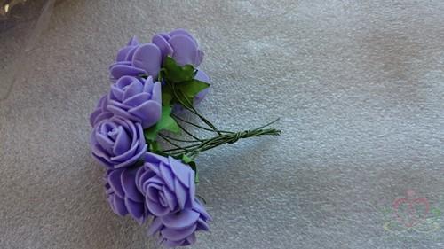 Mini foam roos 2, 5 cm. Purple-Paars +/- 144st zak Mini foam roos
