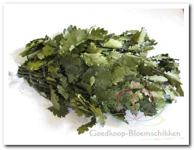 eikenblad Olijfkleur 250 gram geprepareerd eikenblad