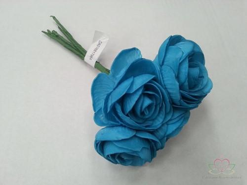 Camelia Ranonkel foambloem Blauw Neon BUNDEL 5 st Ranonkel foambloemen