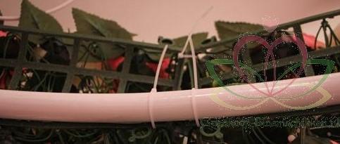 Frame raster voor bloemenboog Arcade 44cm.*12cm. Met bloemen - Wit Q Flower wall Flowerwall